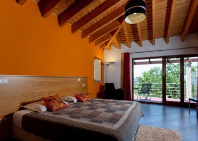 Quinta da Laranjeira, de slaapkamer met balkon