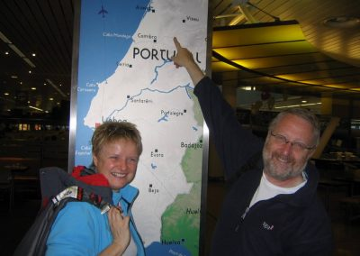 Karin Immerzeel and Jan van Loon with map of Portugal