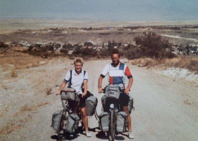 Karin Immerzeel and Jan van Loon by bike