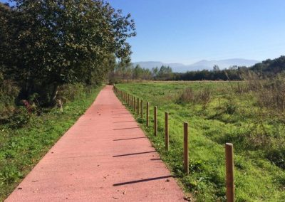 Ecopista, bicyle path with a view