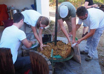 De druivenpers van Quinta Vale Porcacho