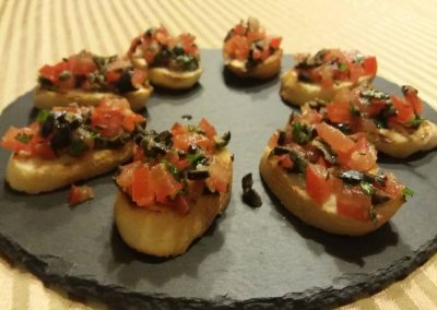 Starter with tomatoes